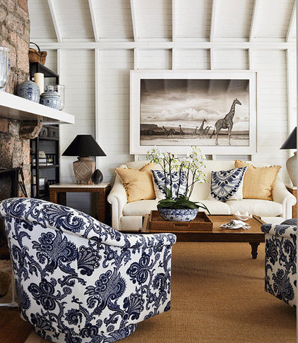eclectic family room Beachy
