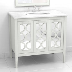 """Stephen Vanity from The Furniture Guild - Stephen Vanity by The Furniture Guild. Model shown is 280-0336, 36""""W. Shown in Nonchalant Finish. Available in standard sizes from 20""""-72"""". 14 Finishes Available. Custom Sizing and Custom Finishes are also available."""