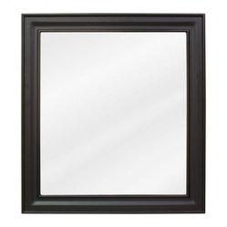 """Hardware Resources - Elements Bathroom Mirror - Black Jensen Mirror by Bath Elements 22"""" x 24 ..."""