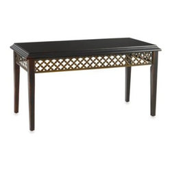 Otto International Usa Llc - Bombay Cristobal Coffee Table - Bombay's Cristobal coffee table in ebony makes a great addition to your living or dining room. This console table offers an updated cottage styling.