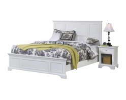 Home Styles - Home Styles Naples Queen Panel Bed 3 Piece Bedroom Set in White - Home Styles - Beds - 55305003PKG