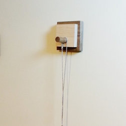 Modern Wall Hook or Key Hanger in Reclaimed Wood by Mod-Rak - Mod-Rak