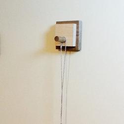 Modern Wall Hook or Key Hanger in Reclaimed Wood by Mod-Rak - Mod-Rak