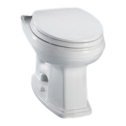 Toto - Toto C423EFG#01 Cotton White Eco Promenade Toilet, Round Bowl 1.28GPF, SanaGloss - With square, sleek lines and a classic, pedestal-like design, the Promenade series to give an old-world style and traditional feel to any home decor.