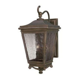 Westinghouse - Westinghouse Outdoor Lanterns. 2-Light Oil Rubbed Bronze Steel Exterior Wall Lan - Shop for Lighting & Fans at The Home Depot. This Westinghouse lantern features an oil rubbed bronze finish on steel for durability and old-world appeal. The clear seeded glass panels have an aged quality that lend the lantern an antique aesthetic. This wall fixture hangs from a slender shepherd hook arm, and it features a rectangular back plate and detailed embellishment on the bottom. Install this traditionally styled lantern in your front or back entryway, or by your garage door, deck area, patio, balcony, or side entrance. Wherever you mount it, you will enjoy the lantern's bright light and enduring look. The lantern is 17-3/8 in. x 8-1/2 in. (H x W), 8-1/8 in. high from the center of the outlet box, and it extends 10-7/8 in. from the wall. The back plate is 11-1/2 in. x 4-1/4 in. (H x W). The fixture uses 2 candelabra-base light bulbs, 60-watt maximum (not included). This Westinghouse exterior light fixture is UL listed for safety. It is backed by a 5-year manufacturer's warranty against defects in materials and workmanship.