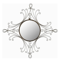 Safavieh - Maltese Mirror MIR3009A - Reminiscent of the metal work of the Art Nouveau and Victorian eras, the Maltese Mirror with its gracefully curved frame adds an old world glamour to any room.