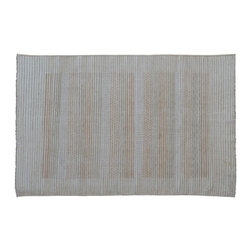 1800-Get-A-Rug - Striped Modern Gabbeh Hand Knotted Rug Raised Pile Sh9211 - About Modern & Contemporary
