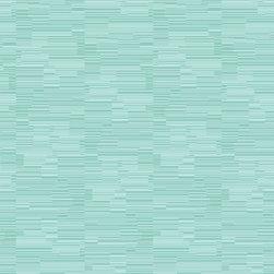 Color Candy Stripe Wallpaper, Tropical Sea, Bolt - • Vinyl Covered Paper