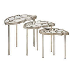 "IMAX CORPORATION - Fauna Leaf Nesting Tables - Set of 3 - Fauna Leaf Nesting Tables. Set of 3 tables in varying sizes measuring approximately 17.75-20.5-23.25""H x 9.25-10.75-12.75""W x 17-20-25-23.5"" each. Shop home furnishings, decor, and accessories from Posh Urban Furnishings. Beautiful, stylish furniture and decor that will brighten your home instantly. Shop modern, traditional, vintage, and world designs."