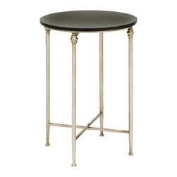 """Benzara - Old Lookd Look End Table With Modern Marble - Your personal space is should be something useful and attractive, just like this antique end table. The classic neutral color legs and feet create a feel all of their own. The frame supports the slab of modern polished marble on top. This end table is ideally made for the living room or even as extra surfaces in your home office.; Made of marble and metal alloy; Size: 18""""x18""""x26"""""""