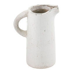 Zentique - Pitcher, Small - This pitcher features a cylindrical shape with a pulled handle. For decorative purposes only.