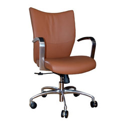 9 to 5 Seating - Leather Desk Chair - Top Grain Saddle Leather