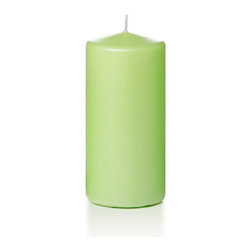 """Neo-Image Candlelight Ltd - Set of 3 - Yummi 3"""" x 6"""" Celery Green Pearlescent Pillar Candles - Our unscented 3""""x6"""" Pearlescent Pillar Candles are ideal when creating a beautiful candlelight arrangement for the home or wedding decor.  Available in 7 trendy pearlescent candle colors hand over dipped with white core to match and compliment your home decor or wedding centerpiece decoration."""
