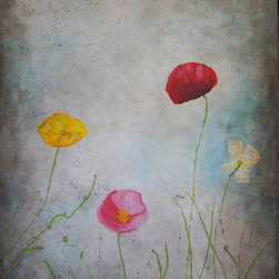 """Vintage Poppies"" - 24x36 Giclee on canvas"