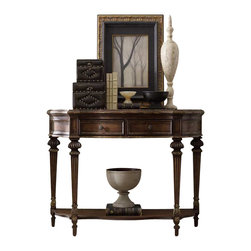 Hooker Furniture - Hooker Furniture Adagio Sofa Table - Hooker Furniture - Sofa Tables - 509180151 - Grand scale classic design and soft flowing shapes are married with a rich dark finish to give birth to the stunning Adagio collection.