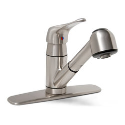 "Premier - Sonoma Pull-Out Lead Free Kitchen Faucet - Brushed Nickel - Single Lever Handle Pull-Out Kitchen Faucet Brushed Nickel Finish 1/2"" IPS Connection."