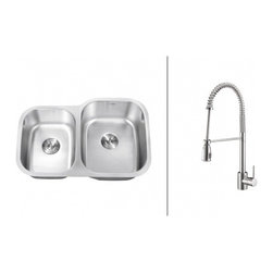 Ruvati - Ruvati RVC2516 Stainless Steel Kitchen Sink and Chrome Faucet Set - Ruvati sink and faucet combos are designed with you in mind. We have packaged one of our premium 16 gauge stainless steel sinks with one of our luxury faucets to give you the perfect combination of form and function.