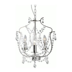 IKEA of Sweden - Kristaller Chandelier, 3-Armed - This simple and classic chandelier is such a steal. I have two of these in my home and can tell you that they are chic and sweet. I have one in my girls' room and one in my office — they work in lots of atmospheres.