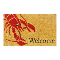 "Home & More 12083 Lobster Doormat - This doormat brings a luscious lobster to life and greets your guests with a smile. After all, what's more inviting than a lobster saying, ""Welcome""?"