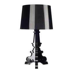 Kartell - Bourgie Table Lamp, Matte Black - The Kartell Bourgie Table Lamp. Designed by Ferruccio Laviani, part of the Kartell Bourgie Family.