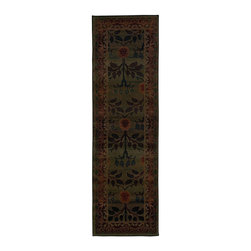"""Oriental Weavers - Transitional Kharma Hallway Runner 2'6""""x9'1"""" Runner Green-Brown Area Rug - The Kharma area rug Collection offers an affordable assortment of Transitional stylings. Kharma features a blend of natural Green-Brown color. Machine Made of Polypropylene the Kharma Collection is an intriguing compliment to any decor."""