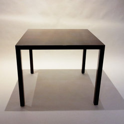 Square Walnut Table Attributed to Mies Van Der Rohe
