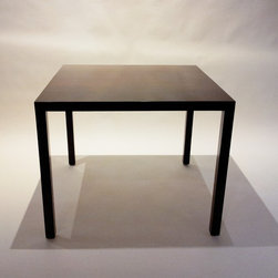 Square Walnut Table Attributed to Mies Van Der Rohe - Dimensions: W 36''  × H 29''  × D 36''