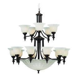 Dolan Designs - Dolan Designs 668-30 Richland Royal Bronze 20 Light Chandelier - Dolan Designs 668-30 Bronze Ceiling Lighting