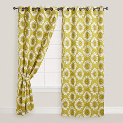 Citrus Ikat Curtain - Ikat is still all the rage these days, and it comes in a wide variety of styles and colors. This bold citrus design is eye-catching and fun.