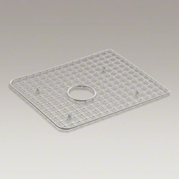 KOHLER - KOHLER Harborview(TM) sink rack, for use in left-hand bowl - Protect the bottom surface of your Harborview utility sink with this sink rack. Designed to fit in the left basin, this rack helps safeguard your fragile dishes and protects the sink's surface.