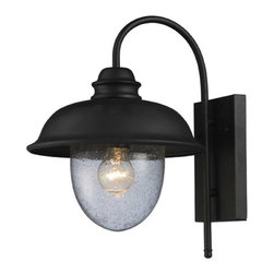 ELK Lighting - ELK Lighting 62000-1 Streetside Cafe 1 Light Outdoor Wall Lights in Matte Black - This 1 light Outdoor Sconce from the Streetside Cafe collection by ELK will enhance your home with a perfect mix of form and function. The features include a Matte Black finish applied by experts. This item qualifies for free shipping!