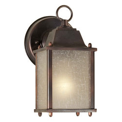 Forte Lighting - Forte Lighting 1755-01 4.5Wx8.75Hx6E Outdoor Wall Sconce - Traditional / Classic Outdoor Wall Sconce