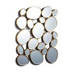 Two's Company - Free-Form Mirror - MDF/Glass - Two's Company Free Form Mirror. Modern in Design. High style decor item.