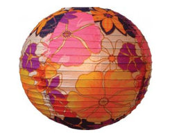 Oriental-Decor - Aloha Lantern - The big pops of color in this aloha lantern can help drive home your party's color scheme and work well for many styles of entertaining. Lanterns can feel down-to-earth and fun or chic and elegant.