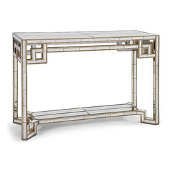 Regina Andrew - Regina Andrew Lattice Mirror Console Table-Antique Mirror - Redefine contemporary style with the Antique Mirror Lattice Mirror Console Table from Regina Andrew Design. With an artist's eye, their assortment skillfully mixes modern with rustic, elegant with casual, romantic with relaxed. They have an eclectic vision that resonates with natural style.