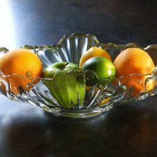 Eclectic Serving And Salad Bowls Crystal Serving Bowl
