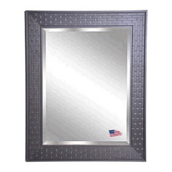 Rayne Mirrors - American Made Espresso Bricks Beveled Wall Mirror - Complete any room with this beautifully-textured decorative framed mirror. Its unique brick design provides an eye-catching accent versatile enough to work with a wide range of decorative themes. Vertical and horizontal hanging hardware included.  Rayne's American Made standard of quality includes; metal reinforced frame corner  support, both vertical and horizontal hanging hardware installed and a manufacturers warranty.