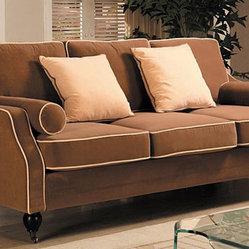 Carolyn Sofa with Contrast Piping