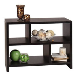 Convenience Concepts - Northfield Bookend Console Table - Plenty of storage potential. Hollow core construction. Limited warranty. Made from stained melamine veneer on MDF board. Espresso finish. Assembly required. 38 in. W x 15.5 in. D x 28 in. H (47 lbs.)Matches other Northfield items.