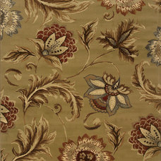 Oriental Weavers Sphinx Darcy Tan/Gold Floral Rug | Wayfair