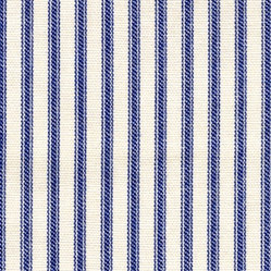 "22"" Bedskirt Gathered Indigo Blue Ticking Stripe"