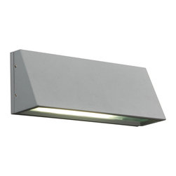 PLC Lighting - PLC 1 Light Outdoor Wall Fixture Origo Collection 1306/CFL SL - -Finish: Silver
