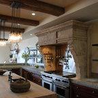 Kitchen Hoods Carved in Mediterranean Limestone - Source :  Ancient Surfaces