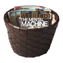 """Butler - Modern Expressions 15.25"""" Magazine Basket - Modern Expressions is a fresh take on classic design. This stunning array of time-honored designs collectively evoke a sense of familiarity, though, individually, each have a look all their own. This beautiful magazine basket is versatile in addition to good-looking. Its spacious dimensions allow it to be used as a planter in addition to storing a vast selection of magazines."""