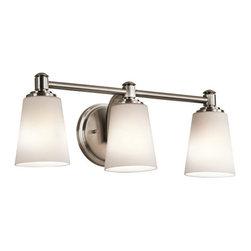 "Kichler - Kichler 45455CLP Quincy 22"" Wide 3-Bulb Bathroom Lighting Fixture - Product Features:"