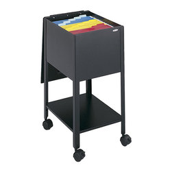 Safco - Safco Economy Mobile Letter Size Tub File in Black - Safco - Filing Cabinets - 5360BL - Be a savvy consumer. Be organized. Economy letter size tub keeps important files close at hand. Durable steel construction with piano-hinge top swings out of the way when file are in use. Top viewing design allows easy filing and retrieval of stored documents. Designed to hold letter size hanging file folders (not included). Tub files roll easily to point of use on four swivel casters (two lock).