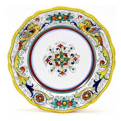 Artistica - Hand Made in Italy - Raffaellesco: Charger Buffet Platter - Raffaellesco Collection: Among the most popular and enduring Italian majolica patterns, the classic Raffaellesco traces its origin to 16th century, and the graceful arabesques of Raphael's famous frescoes.