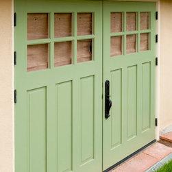 Carriage House Garage Doors - Outswing Real Carriage Doors in Berkeley, California