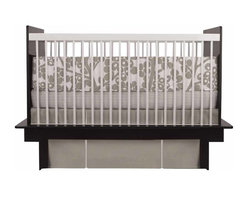 Oilo - Modern Berries Bumper, Taupe - The modern style of this bumper would be perfect for a gender-neutral nursery. Design the room around it: You could easily pair the berries with a contrasting pop of color for a chic and contemporary look.
