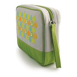 Milkdot - Popdots Go Pouch, Chiro Lime Dots - Popdots Go Pouch is the perfect carryall for everyday or for travel. With one large elastic pocket and three smaller elastic pockets, your items wil be sure to stay in place and stay organized. With its roomy interior, moms can even use the Go Pouch to carry diaper essentials or organize small toys, art supplies and crafts for road trips, outings or errands. It's the versatile pouch for children, teens and women to take on the go for school, work or travel with plenty of room for school supplies, toys, cosmetics, medicine, toiletries, first aid, baby essentials, snacks, drinks and much more!